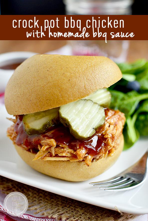 Photo of Gluten-Free Crock Pot BBQ Chicken with Homemade BBQ Sauce