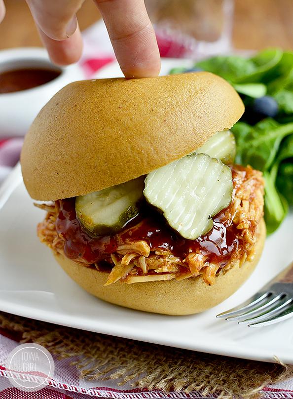 Photo of BBQ Chicken sandwich on plate