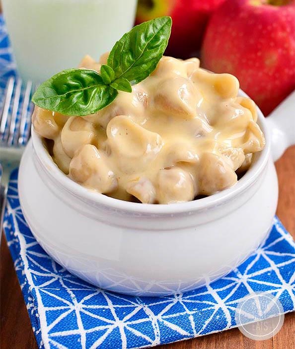 bowl of homemade gluten free mac and cheese