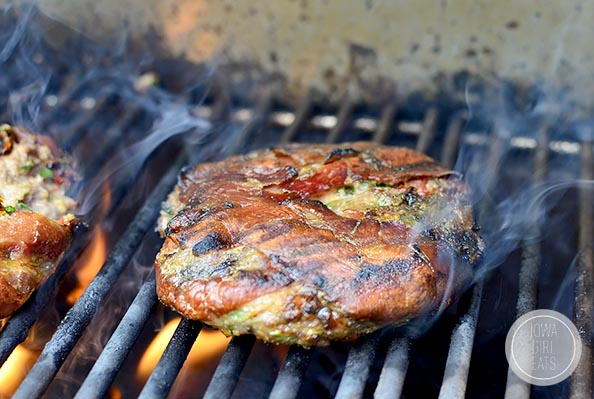 Fire up the grill for Prosciutto Wrapped Mediterranean Lamb Burgers with Bruschetta. Decadent tasting and delicious!
