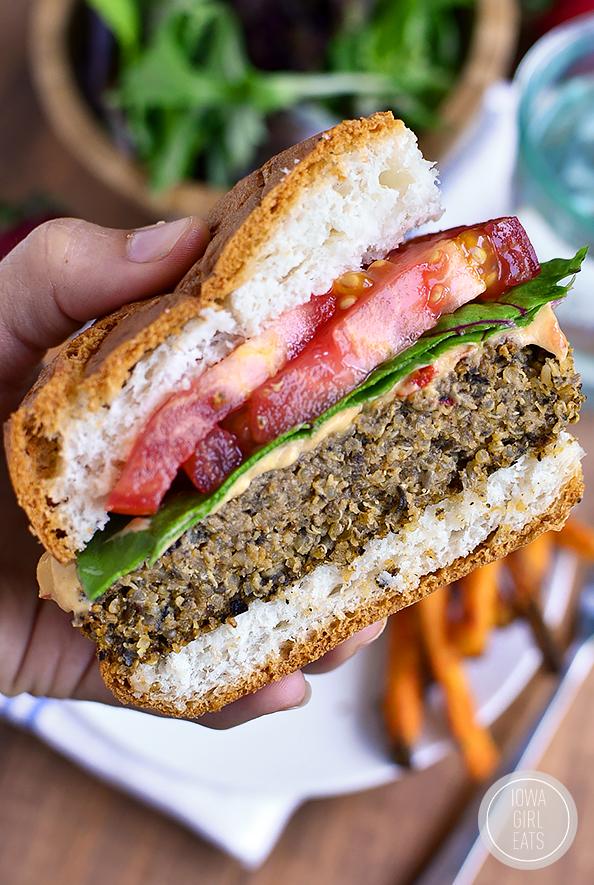 Quinoa Burgers Iowa Girl Eats