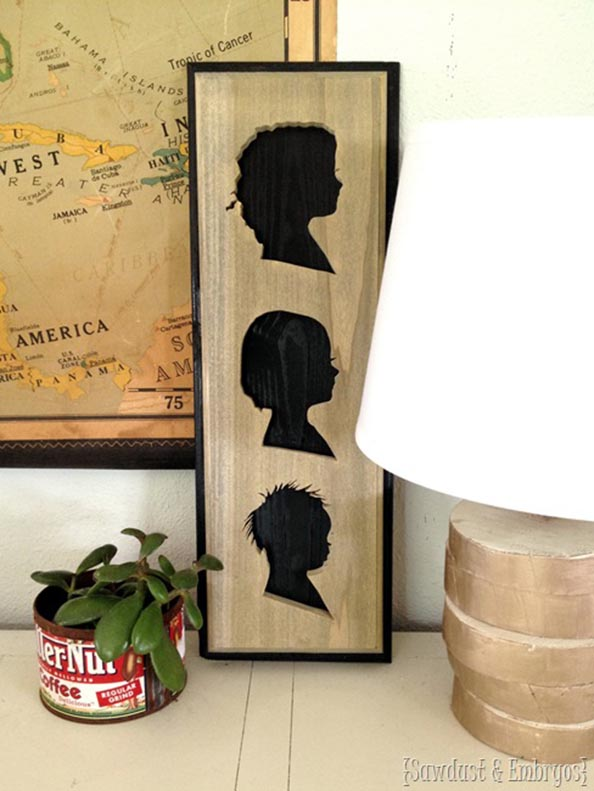Simple-instructions-to-make-a-silhouette-plaque-of-your-kids-profiles-out-of-wood-Sawdust-and-Em