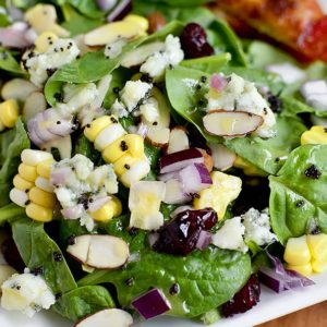 Summer Spinach Salad with Lemon Poppyseed Dressing