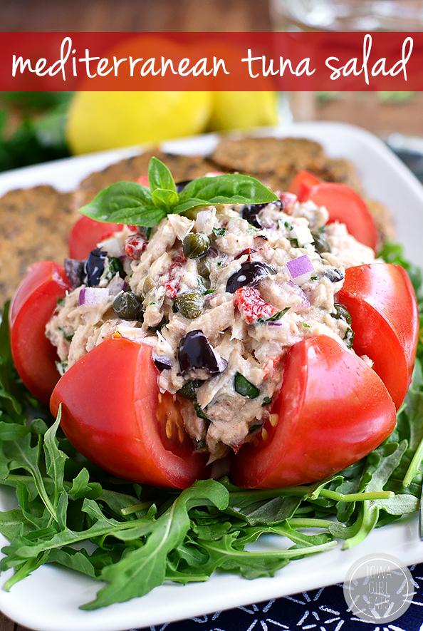 Mediterranean Tuna Salad | Iowa Girl Eats | Bloglovin'