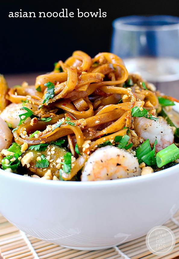 Asian noodle bowls