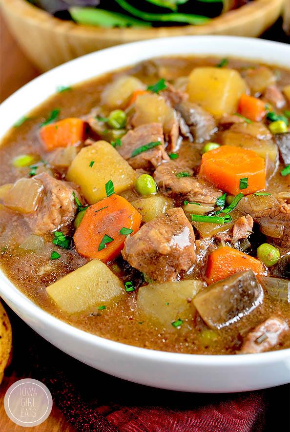 big bowl of crock pot beef stew