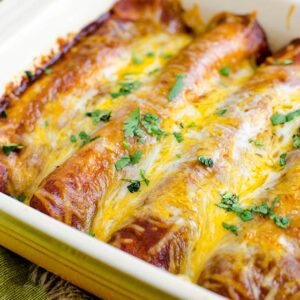 Gluten Free Chicken Enchiladas with Homemade Enchilada Sauce