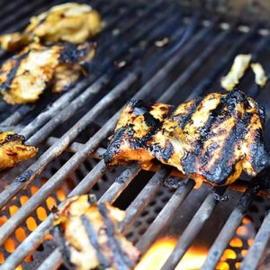 Grilled Chili Honey Lime Chicken Thighs
