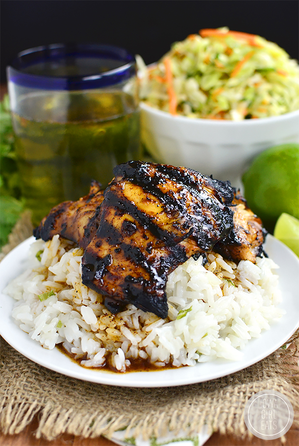 Grilled Chili Honey Lime Chicken Thighs are quick, flavorful and so ...