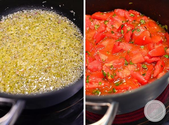 pot of pomodoro sauce