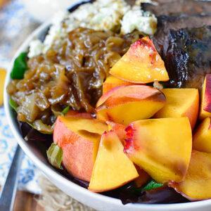 Balsamic Steak and Peach Salad