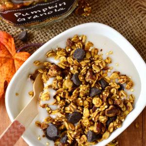 Pumpkin Spice Chocolate Granola