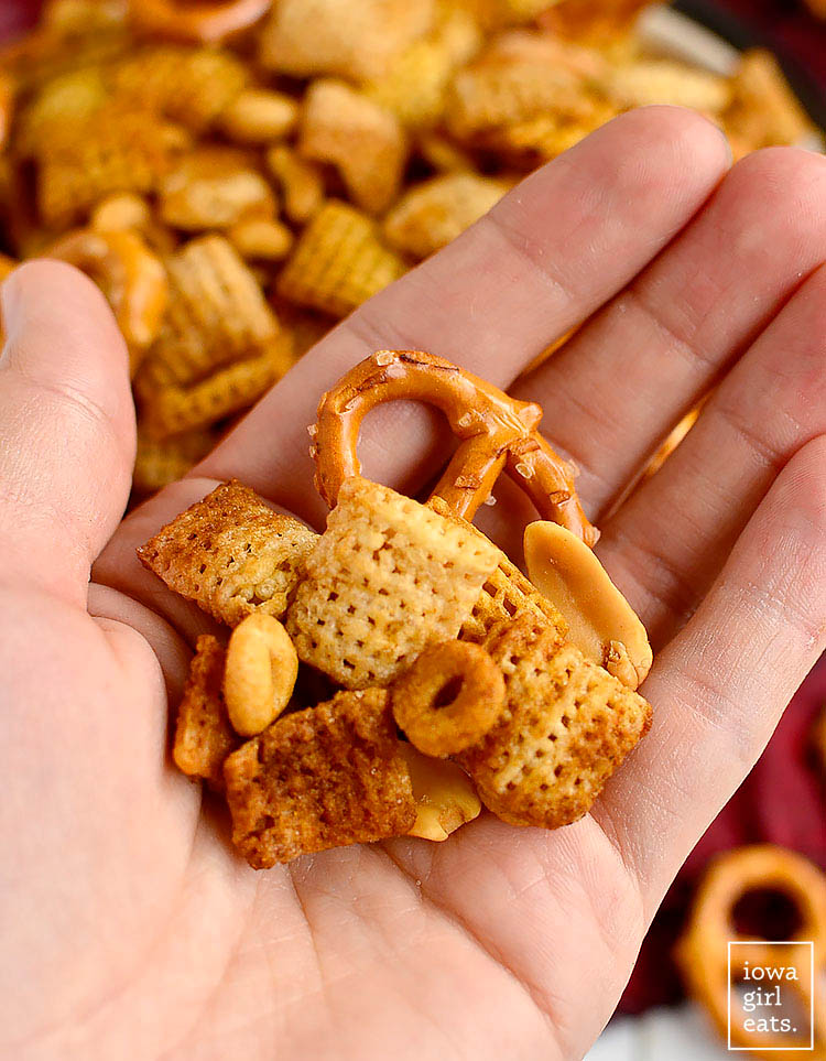 handful of gluten free chex mix