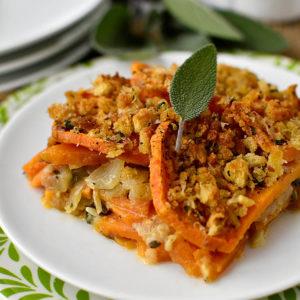 Skinny Sweet Potato Gratin