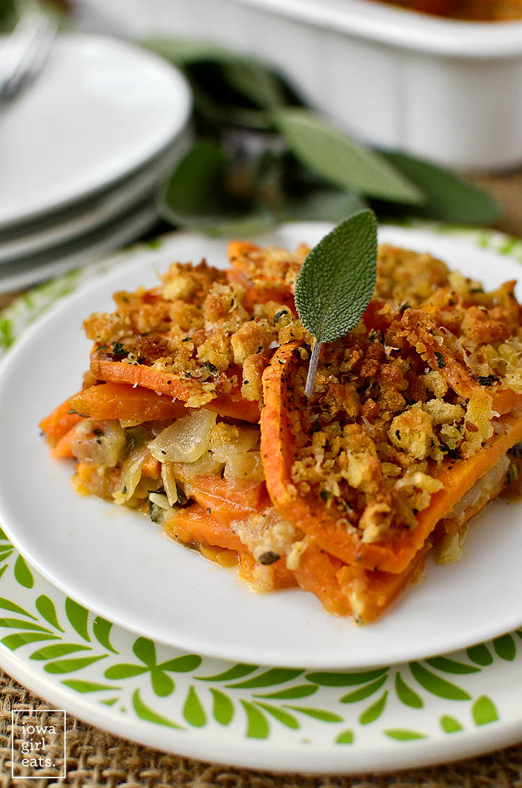 Skinny Sweet Potato Gratin Iowa Girl Eats