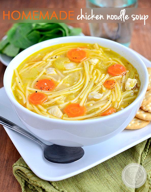 Homemade Chicken Noodle Soup #glutenfree   iowagirleats.com