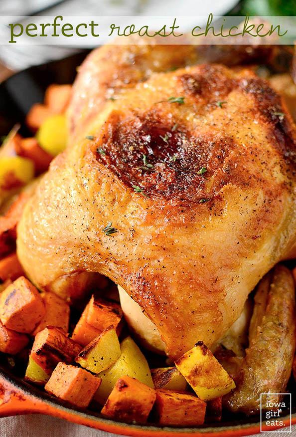 Perfect Roast Chicken + 10 Ways to Use It #glutenfree   iowagirleats.com