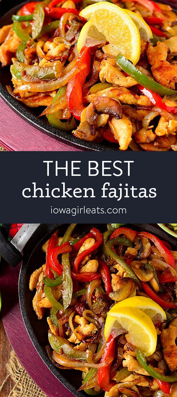 Photo collage of Best Chicken Fajitas