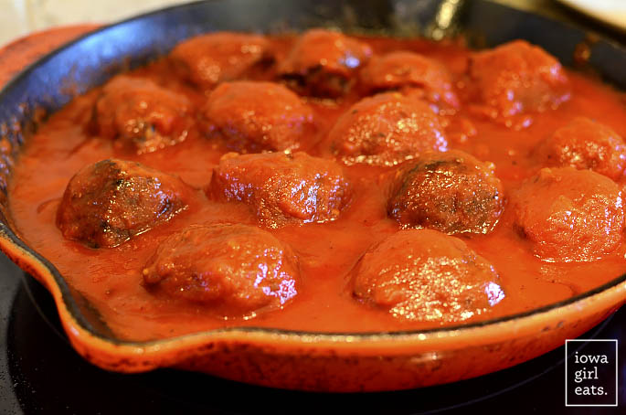 Incredible Italian Meatballs are just that - incredible! Soft and savory, these gluten-free meatballs will quickly become a family favorite. | iowagirleats.com