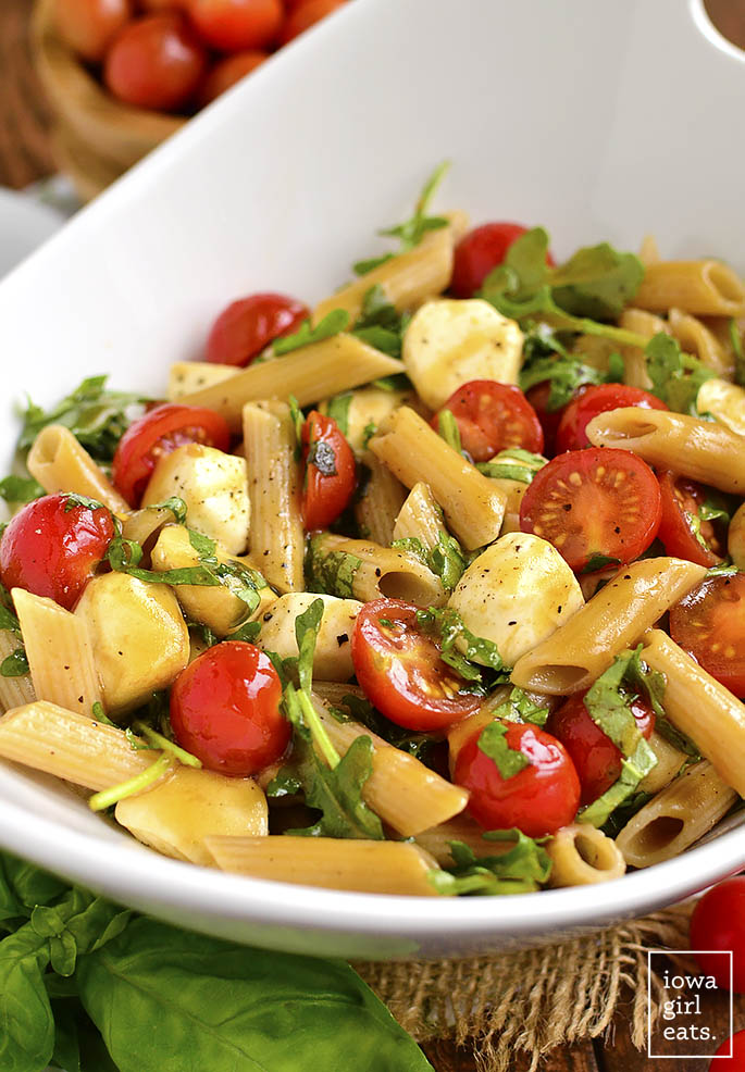 bowl of easy pasta salad