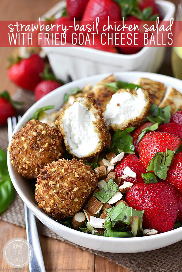 Strawberry-Basil-Chicken-Salad-with-Fried-Goat-Cheese-Bombs-iowagirleats
