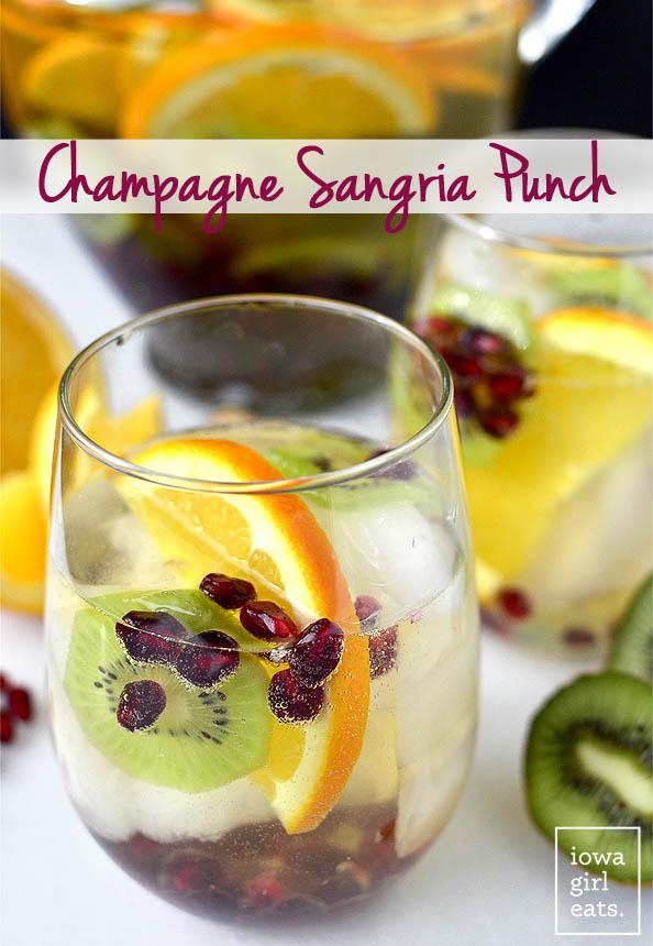 Champagne Sangria Punch | iowagirleats.com