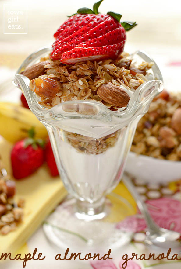 Maple Almond Granola | iowagirleats.com