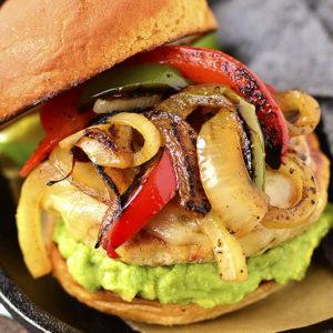 Chicken Fajita Cheeseburgers