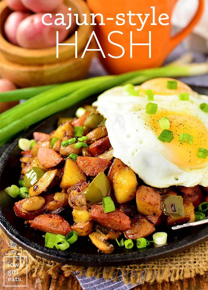 Cajun hash on a plate