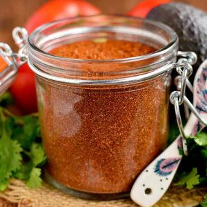 homemade large batch taco seasoning in a jar