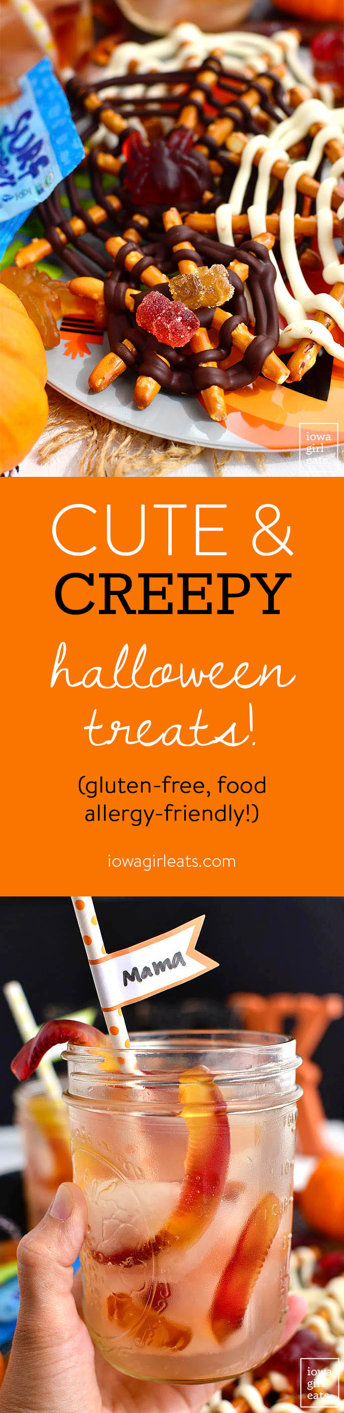 2 Cute and Creepy Halloween Treats - gluten-free and food allergy friendly!   iowagirleats.com