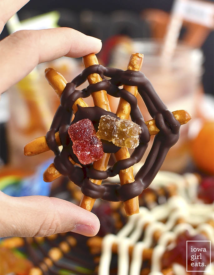 Two cute and creepy Halloween treats that are gluten-free and food allergy-friendly. Make for a Halloween party or as a fun activity with your kids!   iowagirleats.com