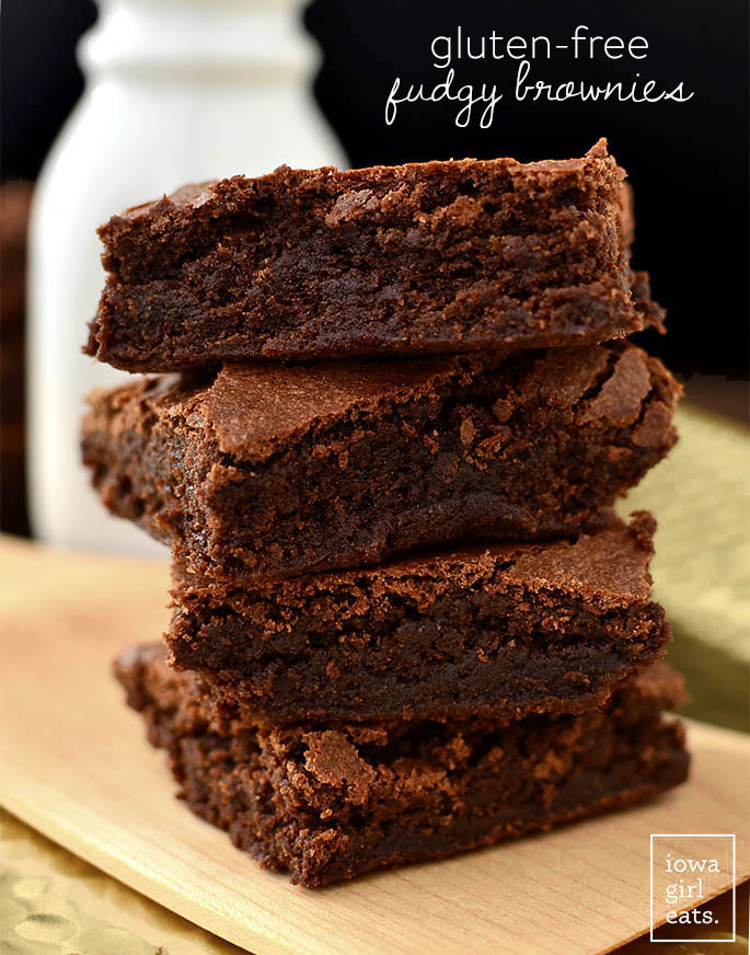 Photo of stack of Gluten Free Brownies