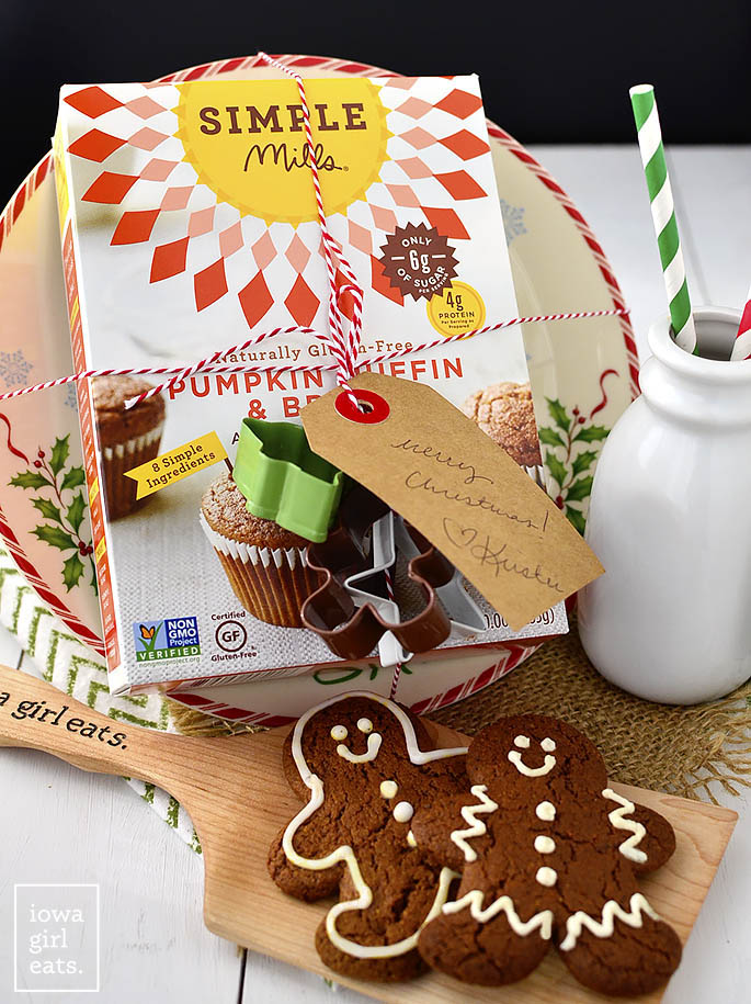 Super Easy Gingerbread Cookies are, you guessed it, incredibly simple! Add a couple pantry staples to boxed muffin mix then roll, slice, and bake! | iowagirleats.com