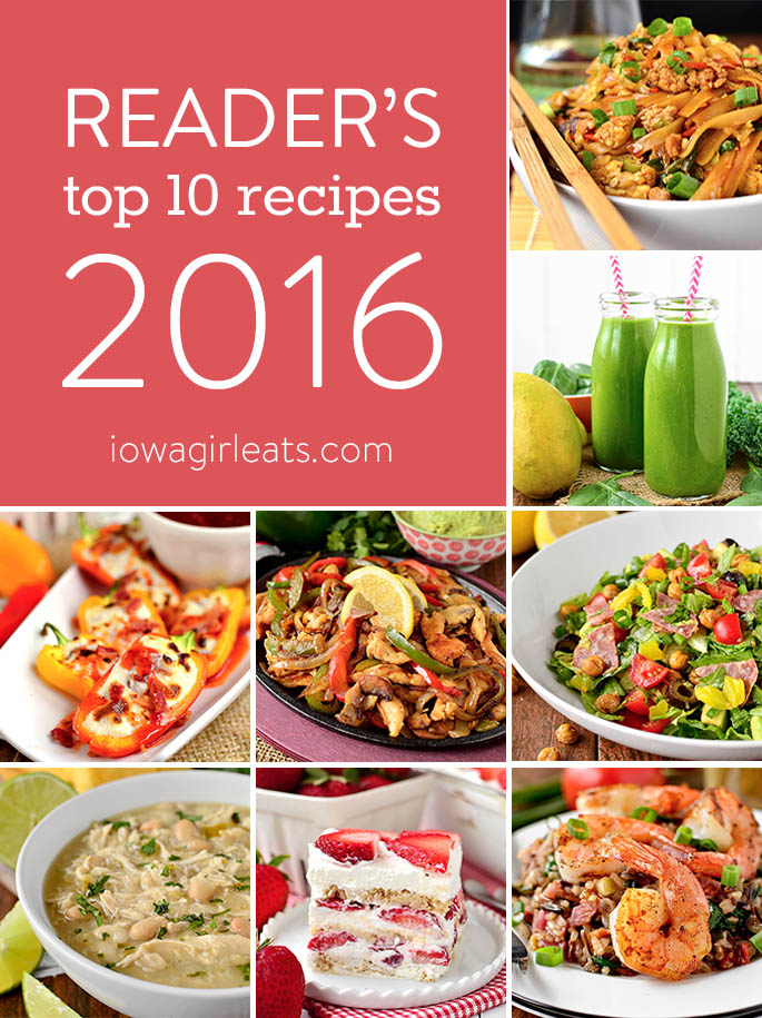 From crock pot recipes to smoothies, soups and summery desserts, these are the top 10 reader favorite recipes on Iowa Girl Eats from 2016! | iowagirleats.com