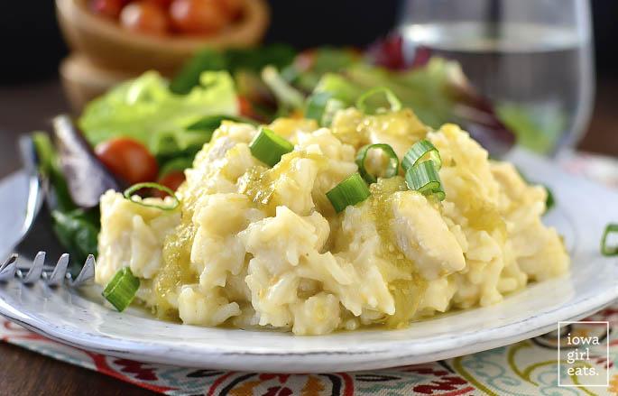 5-Ingredient Cheesy Salsa Verde Chicken and Rice - Iowa ...