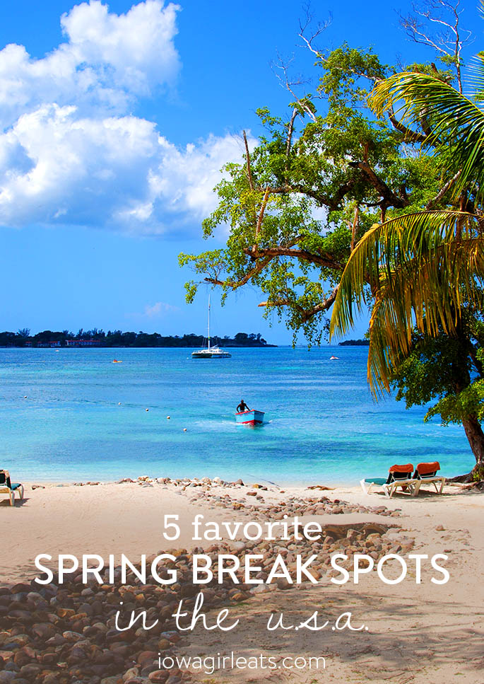 No need to head abroad, there are fun places to visit for spring break right here in the US! Here are 5 of my favorite destinations.   iowagirleats.com