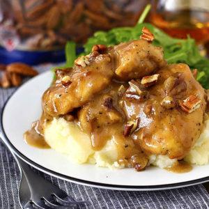 Maple Bourbon Pecan Chicken
