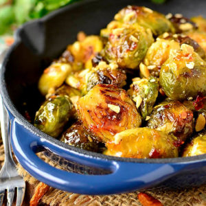 Sweet Chili Roasted Brussels Sprouts