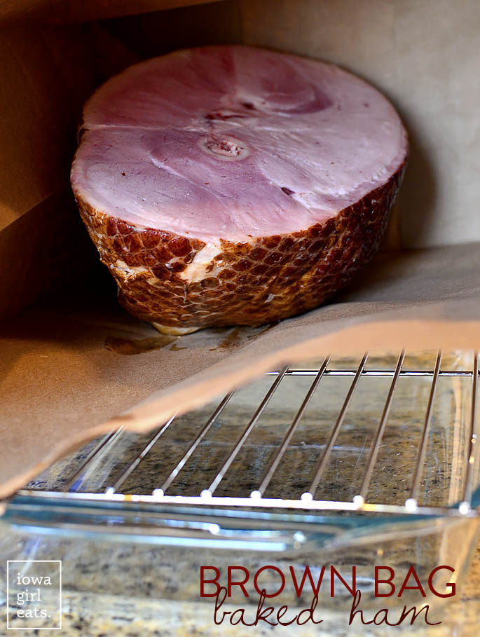 Brown Bag Baked Ham produces an unbelievably juicy ham that's holiday-table ready! | iowagirleats.com