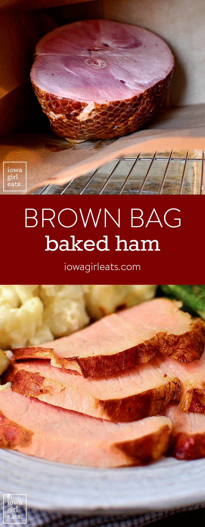 Brown Bag Baked Ham produces an unbelievably juicy and tender ham that's holiday-table ready! | iowagirleats.com