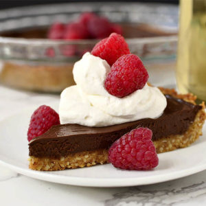 Chocolate Tart with Graham Cracker-Almond Crust