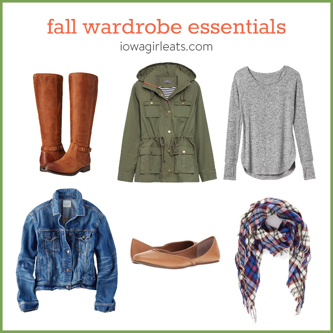 Stay warm and cozy from head to toe this fall with my 5 favorite fall wardrobe essentials.   iowagirleats.com