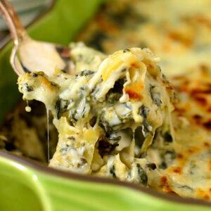 Caesar Spinach and Artichoke Dip