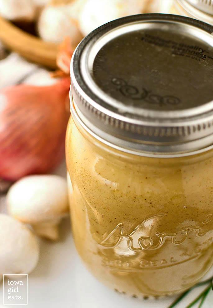 a jar of gluten free cream of chicken soup