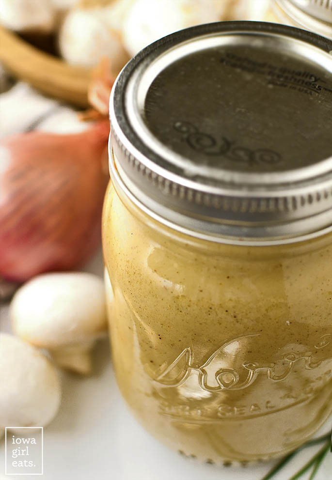 Use homemade cream of chicken soup or cream of mushroom soup in any recipe that calls for the canned version. This delicious, healthier swap couldn't be simpler!   iowagirleats.com