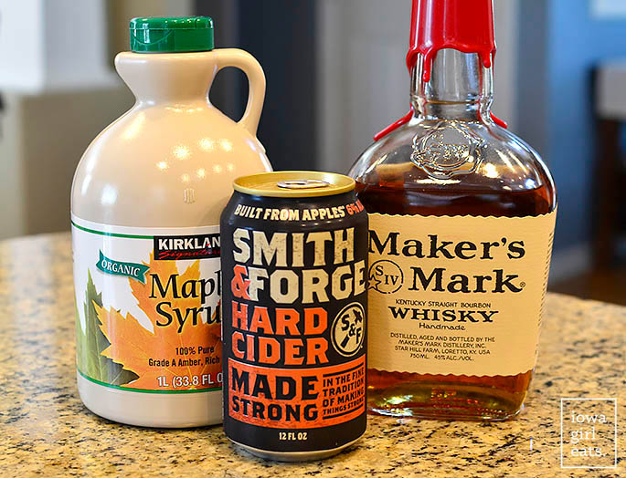 ingredients needed for maple bourbon ciders