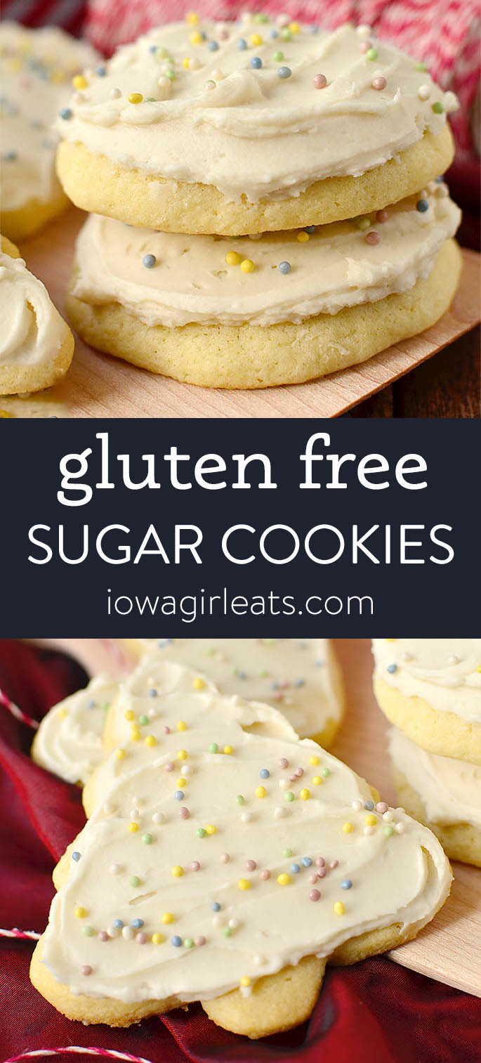 Photo collage of gluten free sugar cookies