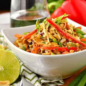 Thai Crunch Salad with Peanut Dressing