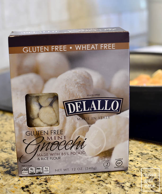 Package of Delallo Gluten-Free Gnocchi